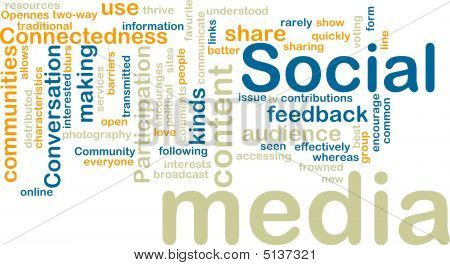 Social-Media wordcloud