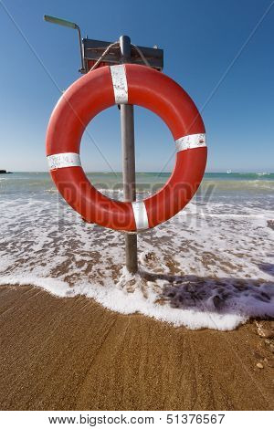 Buoy Life Saver On The Beach