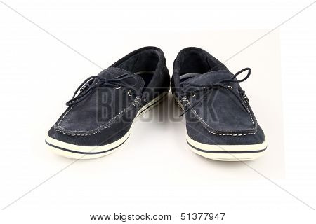Men's Loafer Isolated On A White Background.