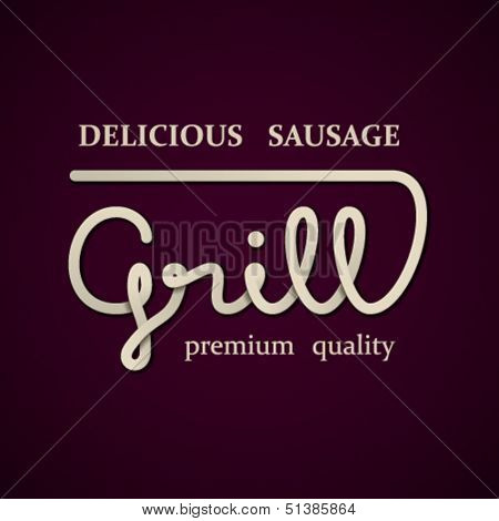 vector grill design template