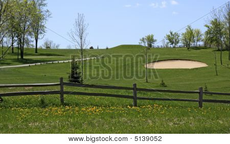 Spring Golf Course View