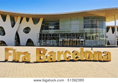 BARCELONA, SPAIN - SEPTEMBER 16: Gran Via Centre of Fira de Barcelona on September 16, 2013 in Barcelona, Spain. This trade fair institution is a leading organizer of industrial trade shows in Spain
