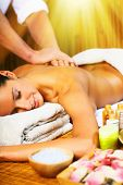 pic of thai massage  - Beautiful woman having relaxing in spa massage salon - JPG