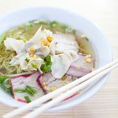 foto of wanton  - asian food photo of Wonton Soup with pork - JPG