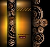 Background metallic technology gears, vector illustration.