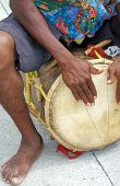 image of congas  - conga drummer in performance - JPG