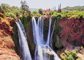 picture of atlas  - Ouzoud Waterfalls located in the Grand Atlas village of Tanaghmeilt in the Azilal province in Morocco Africa - JPG