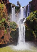 stock photo of atlas  - Ouzoud Waterfalls located in the Grand Atlas village of Tanaghmeilt in the Azilal province in Morocco Africa - JPG