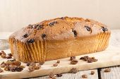 Freshly Baked Loaf Cake With Raisins