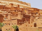 picture of fortified wall  - Ait Benhaddou  - JPG