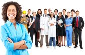 stock photo of jalousie  - Business woman and business people  - JPG