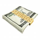stock photo of save money  - savings money clip 3d
