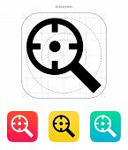stock photo of crosshair  - Magnifier crosshair icon - JPG