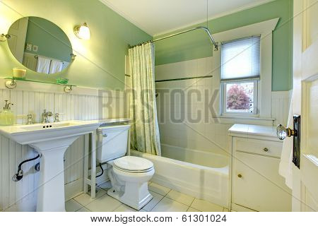 Refreshing Mint Bathroom