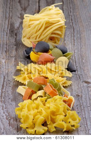 Arrangement Of Dry Pasta