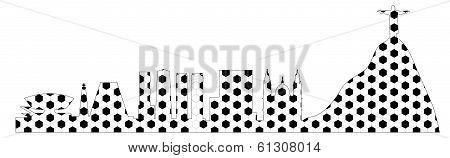 Rio skyline with ball texture