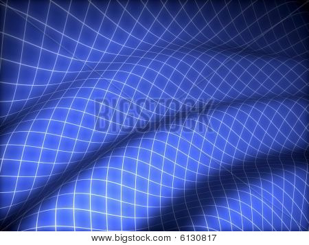 Blue grid background