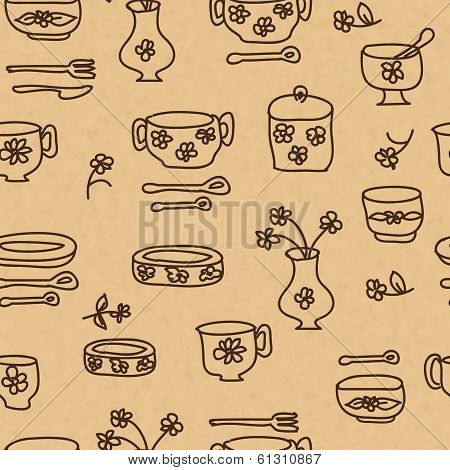 Icons Of Kitchen Ware And Utensils.ai