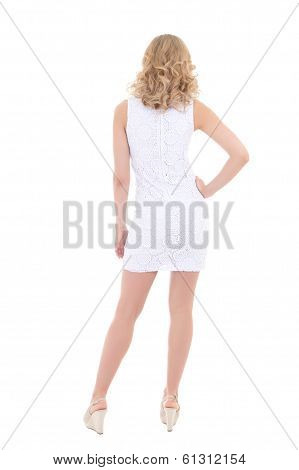 Back View Of Woman In White Dress