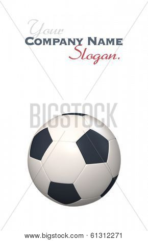 3D rendering of a soccer ball against a white background
