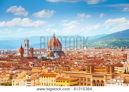 Panorama Of Florence And Saint Mary