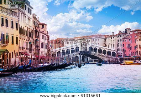 Rialto Bridge And Grand Canal