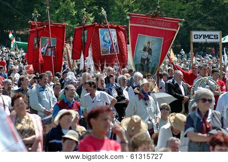 Szekler Hungarian pilgrims celebrating the Pentecost