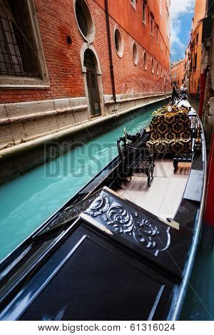 Gondola Close-up In Venice