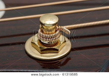 Closeup Of Acoustic Guitar Tuner