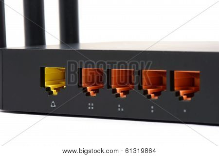 Wifi Router For Network Connection Isolated On A White Background
