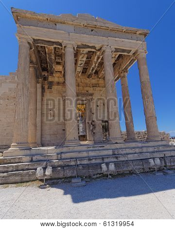 entrance of erechtheion temple Athens Greece