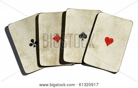 Set Of Four Vintage Aces