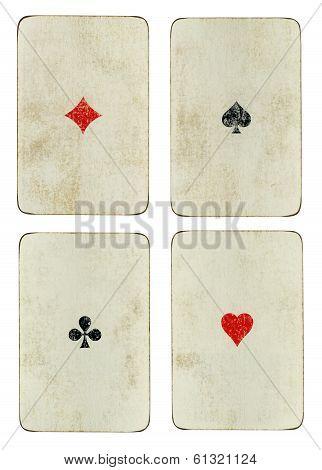 Four Vintage Aces