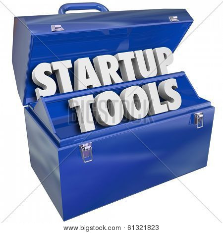 Startup Tools Words Toolbox Launch New Business Steps Advice