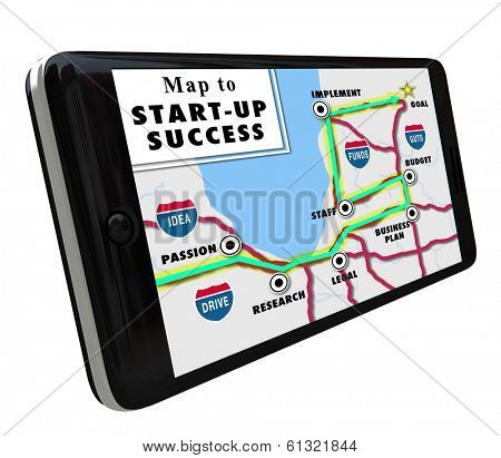 Map Start-Up Success Navigation System Directions Phone