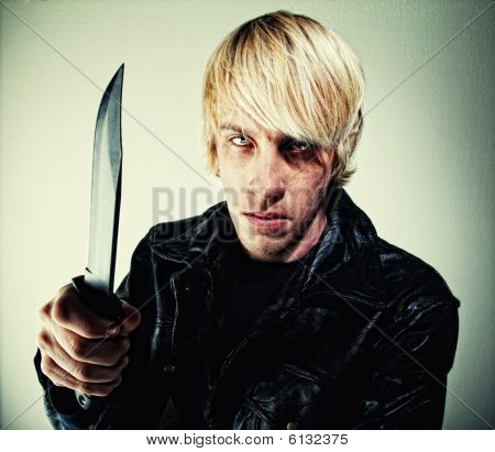 Young Man With Knife