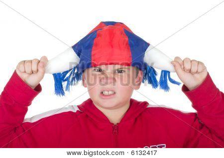 Offended  Boy In A Fan Helmet