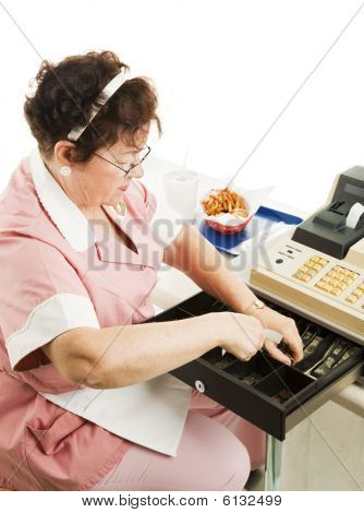 Cashier In Cafeteria