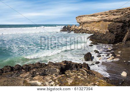 La Pared Beach On Fuerteventura West Coast