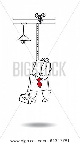 Burnout of a businessman. he committed suicide