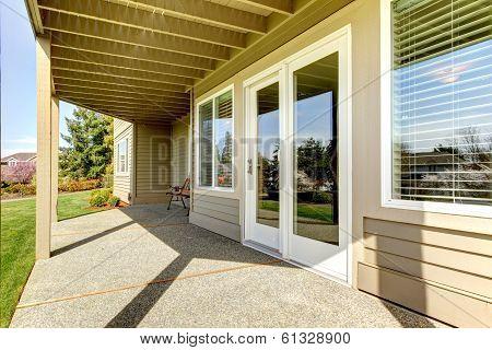 Backyard Walkout Deck