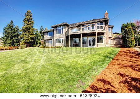 Beautiful Siding House. View From Backyard