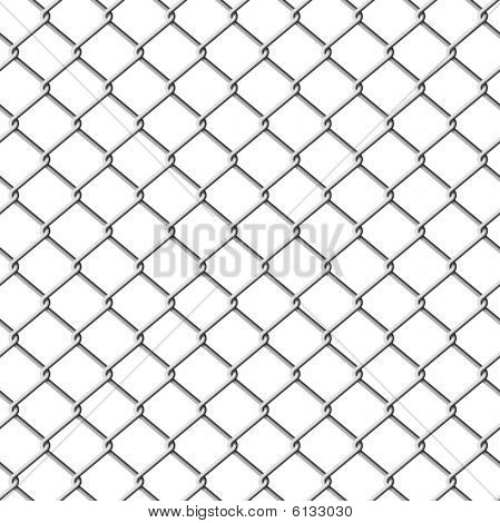 Chainlink fence. Seamless. Vector illustration.