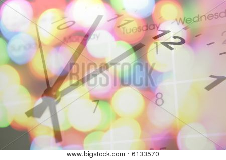 Clock, Calendar And Lights.