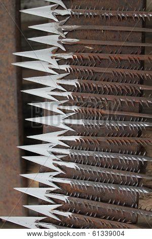 Handmade Arrow tips in West Africa