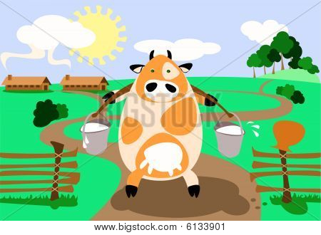 Stylised Cow
