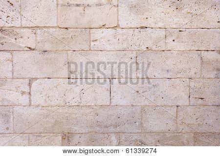 White Stone Blocks Wall