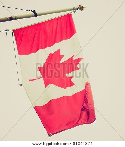 Retro Look Canada Flag