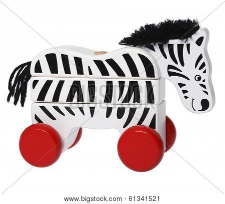 wooden toy zebra