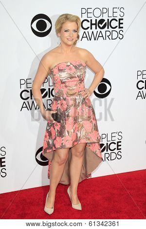 LOS ANGELES - JAN 8: Melissa Joan Hart at The People's Choice Awards at the Nokia Theater L.A. Live on January 8, 2014 in Los Angeles, California